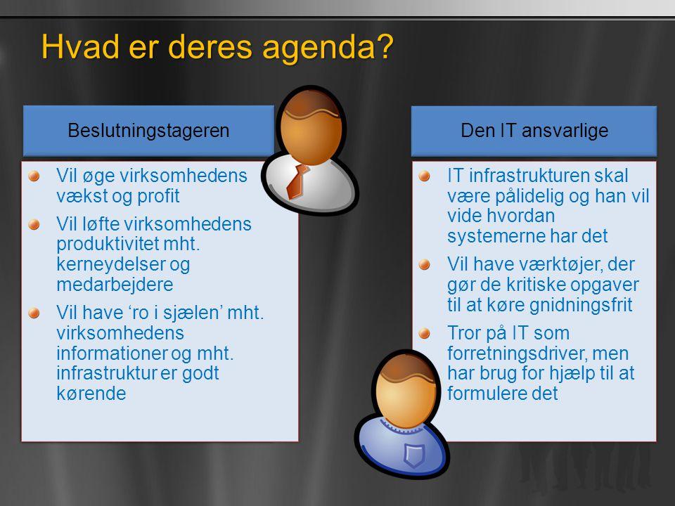 Hvad er deres agenda Beslutningstageren Den IT ansvarlige