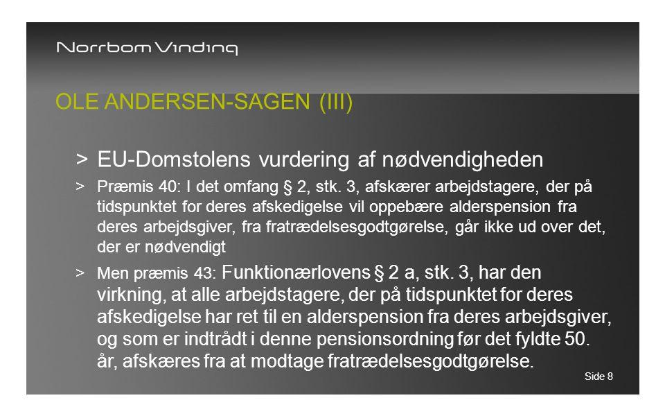 Ole Andersen-sagen (III)