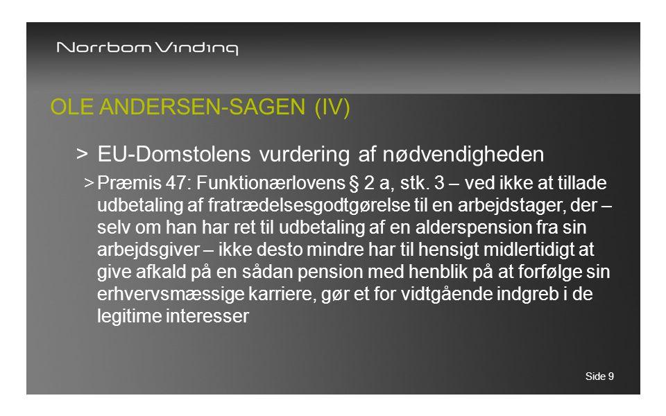 Ole Andersen-sagen (IV)