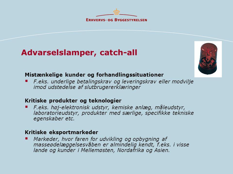 Advarselslamper, catch-all