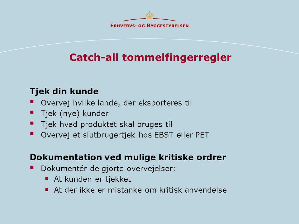 Catch-all tommelfingerregler