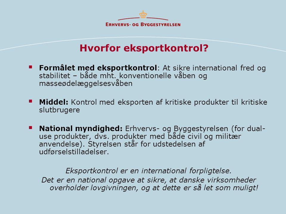 Hvorfor eksportkontrol