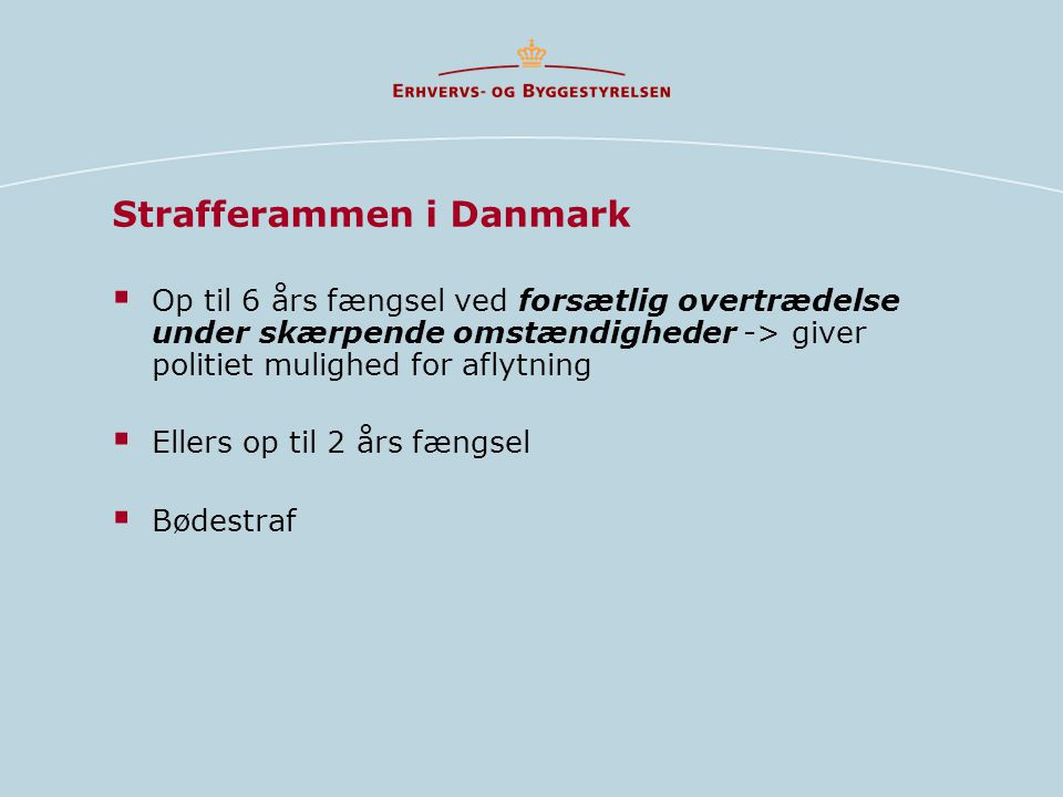 Strafferammen i Danmark