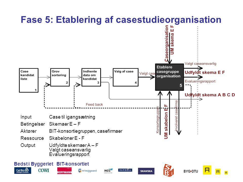 Fase 5: Etablering af casestudieorganisation