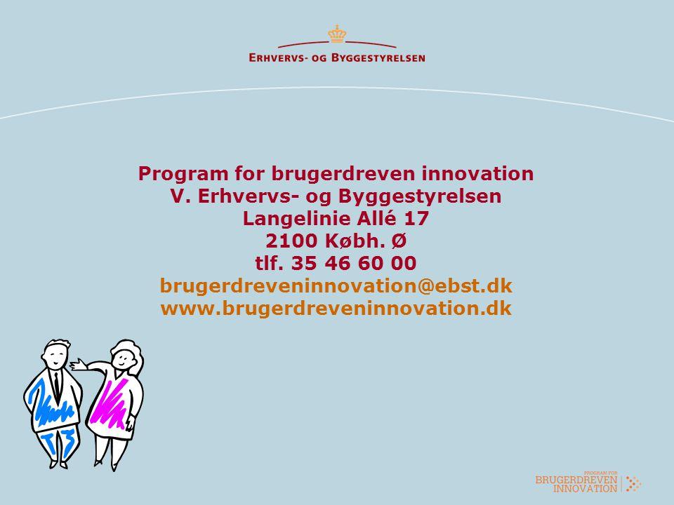 Program for brugerdreven innovation V