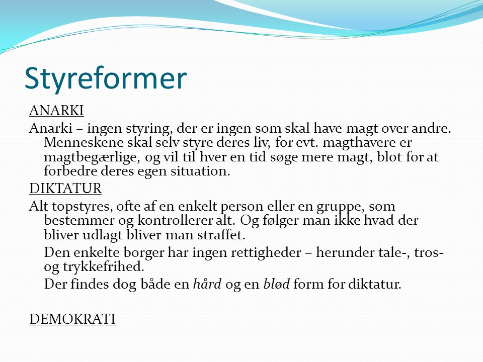 Styreformer