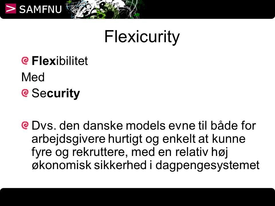 Flexicurity Flexibilitet Med Security
