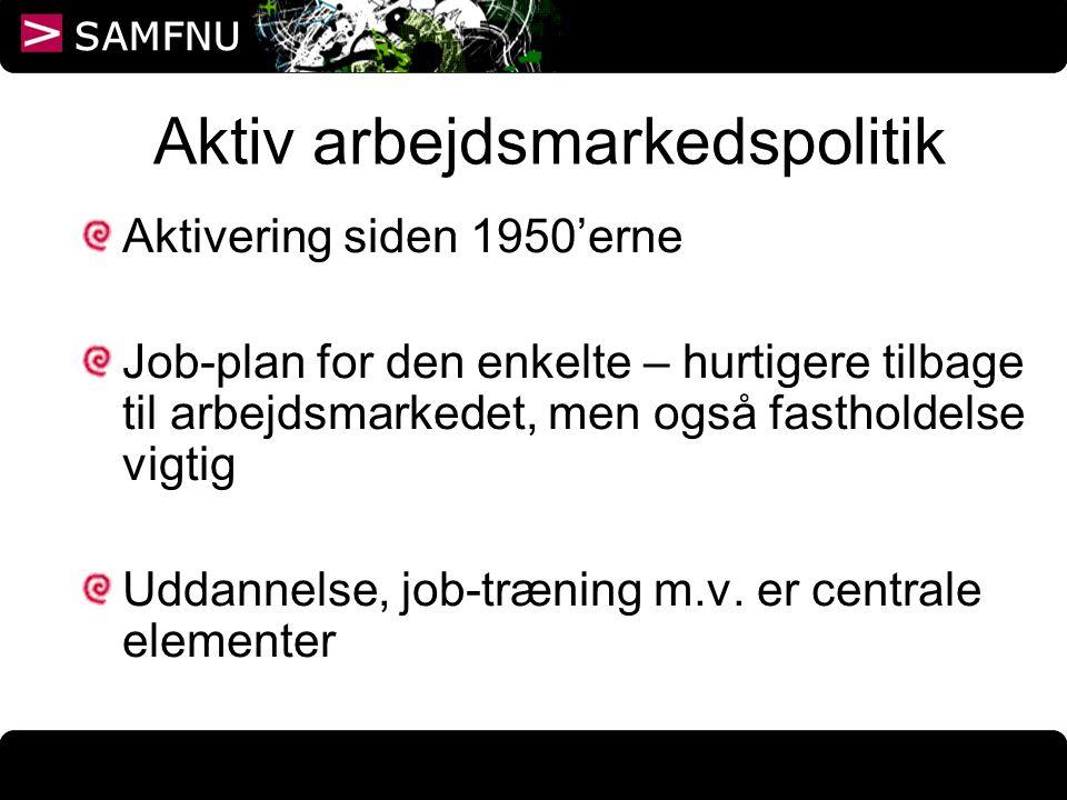 Aktiv arbejdsmarkedspolitik