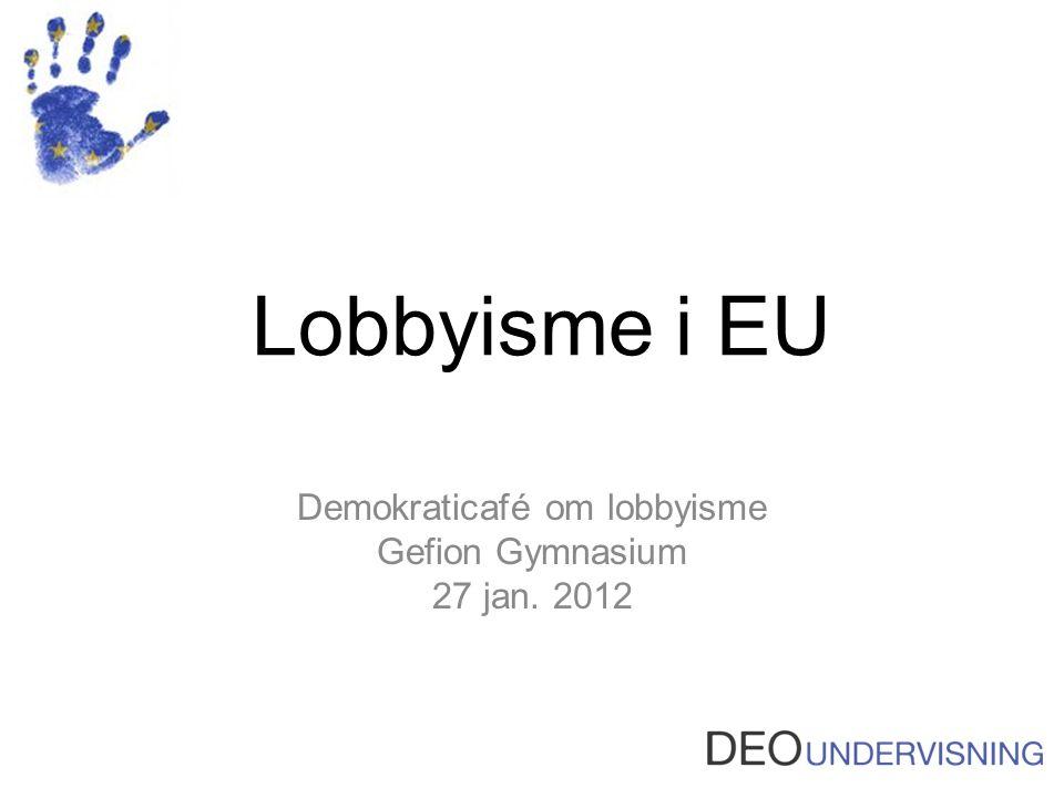 Demokraticafé om lobbyisme Gefion Gymnasium 27 jan. 2012