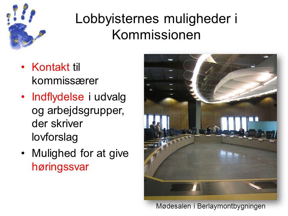 Lobbyisternes muligheder i Kommissionen