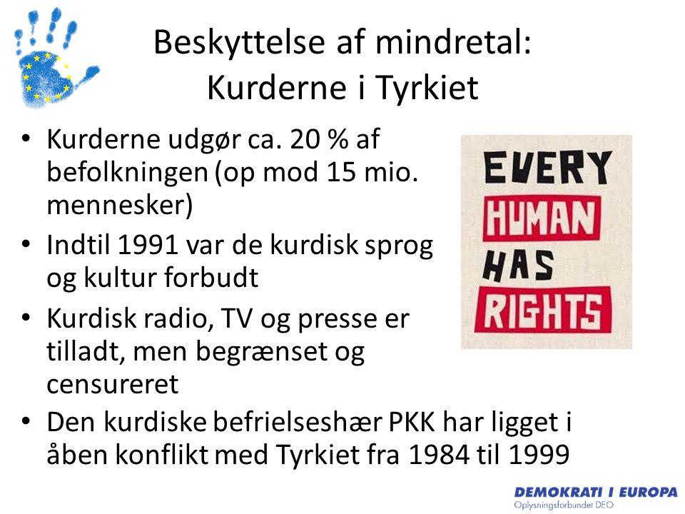 Beskyttelse af mindretal: Kurderne i Tyrkiet