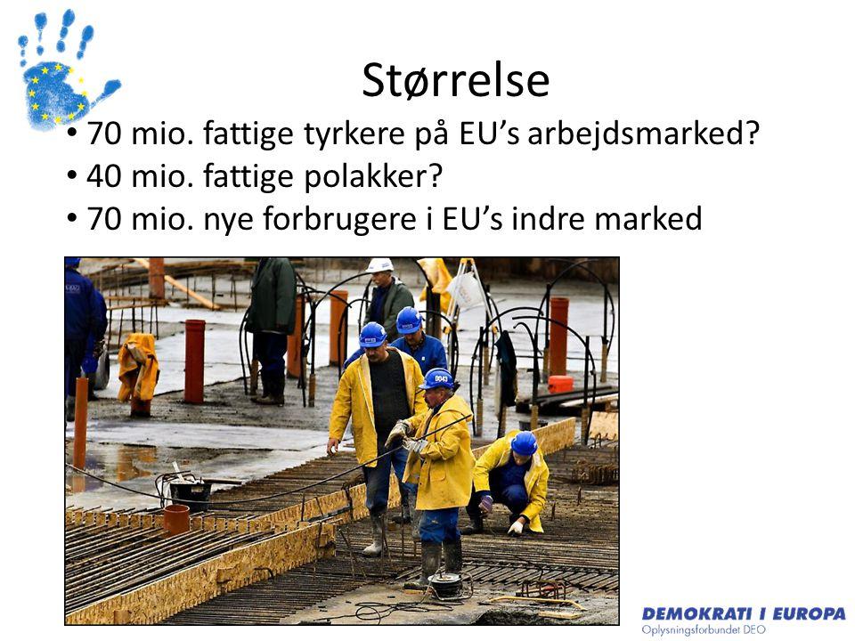 Størrelse 70 mio. fattige tyrkere på EU's arbejdsmarked