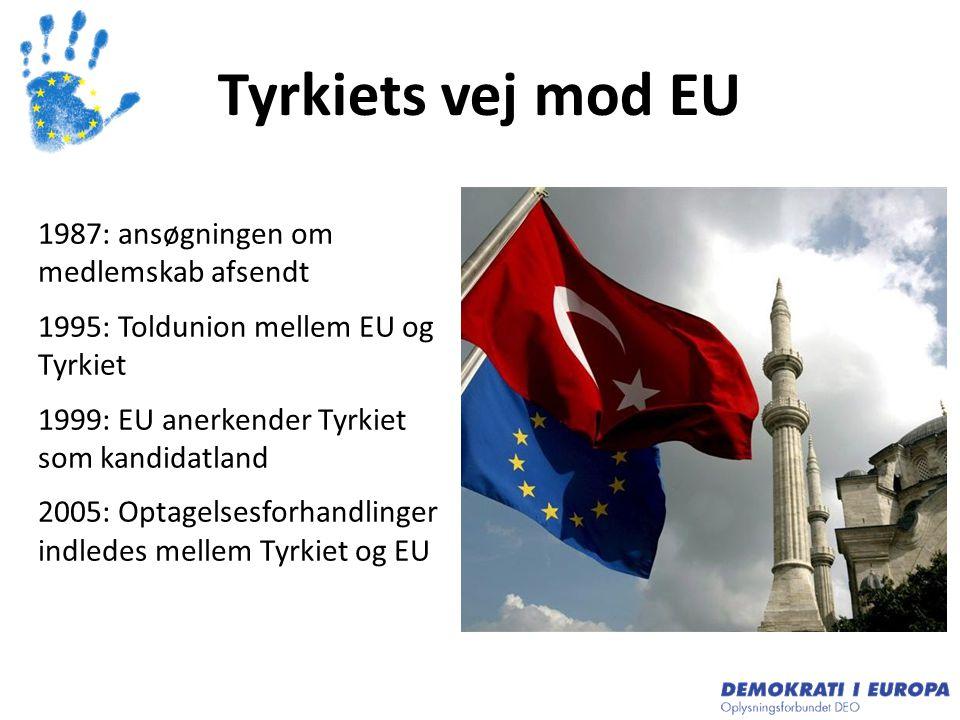 Tyrkiets vej mod EU 1987: ansøgningen om medlemskab afsendt