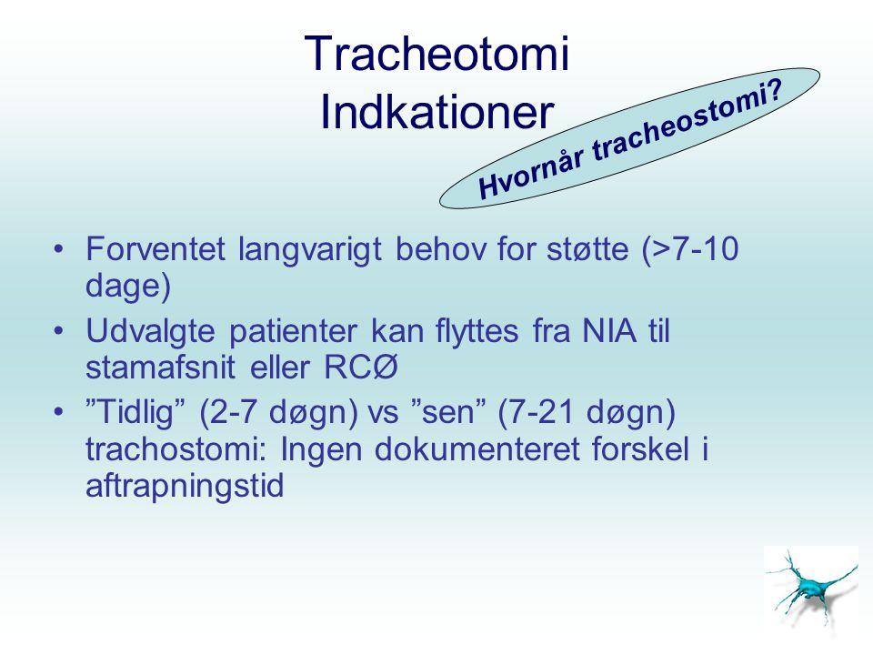Tracheotomi Indkationer