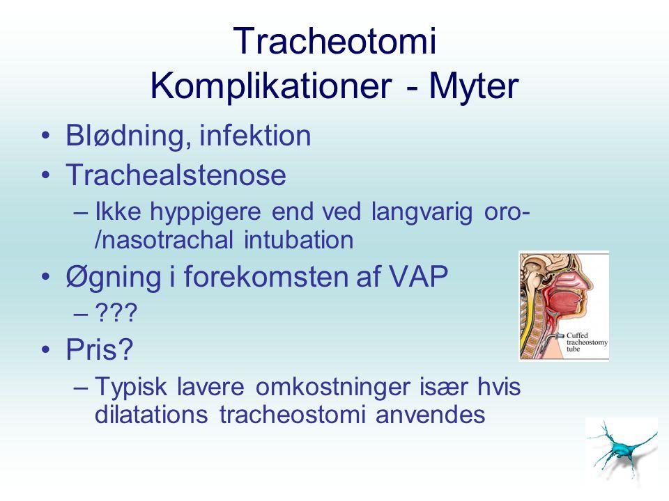 Tracheotomi Komplikationer - Myter