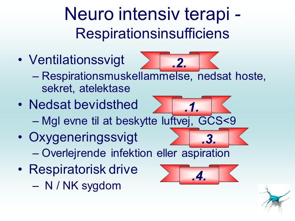 Neuro intensiv terapi - Respirationsinsufficiens