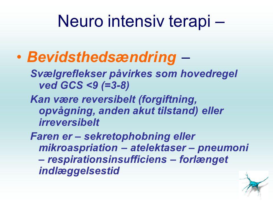 Neuro intensiv terapi –