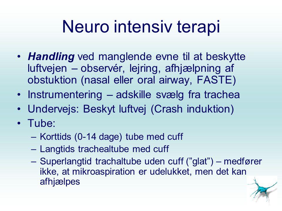 Neuro intensiv terapi