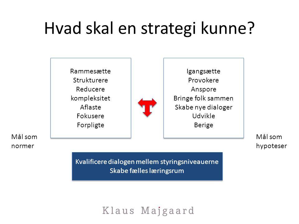 Hvad skal en strategi kunne