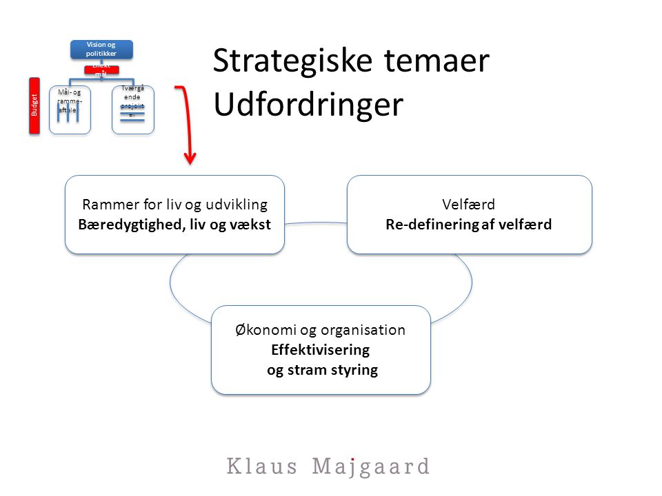 Strategiske temaer Udfordringer