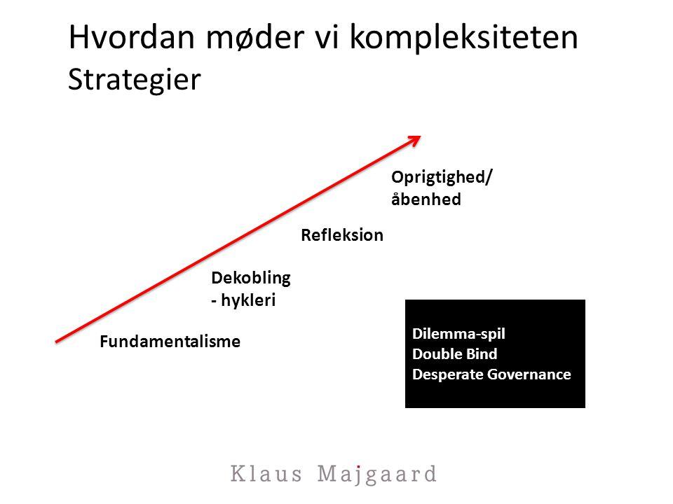 Hvordan møder vi kompleksiteten Strategier