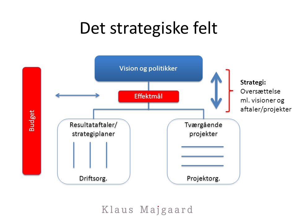 Det strategiske felt Vision og politikker Strategi: Oversættelse