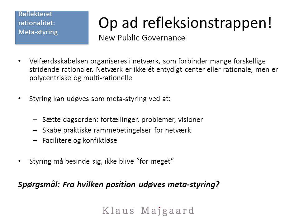 Op ad refleksionstrappen! New Public Governance