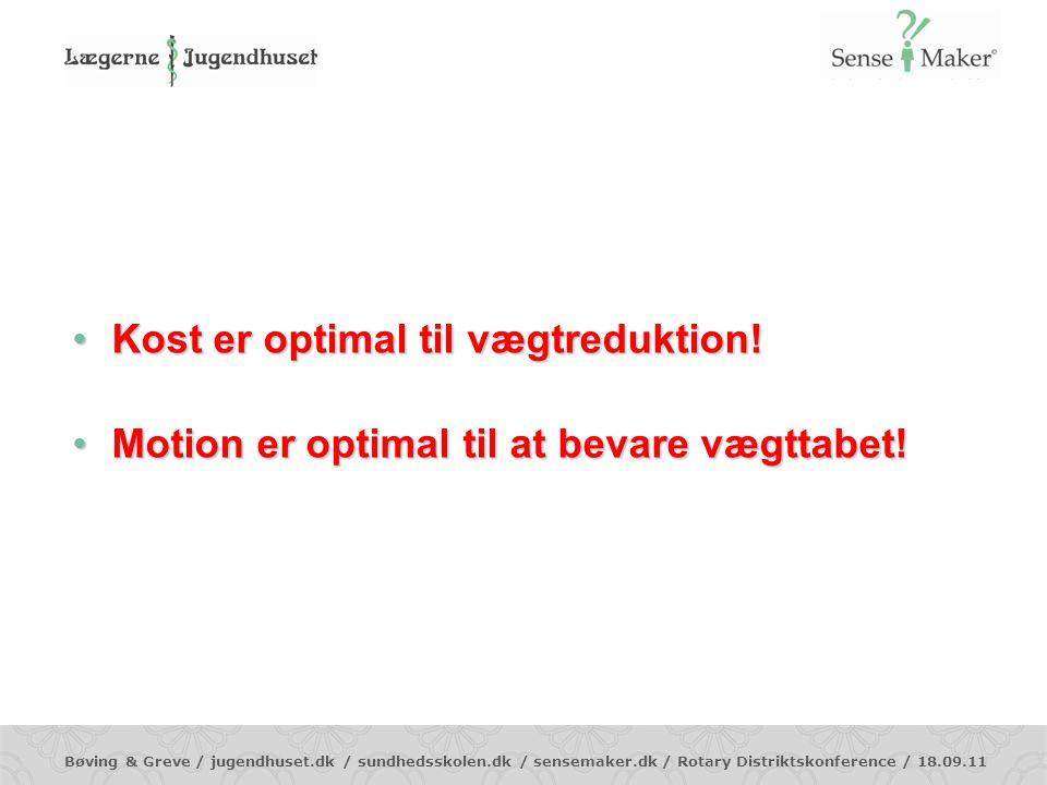 Kost er optimal til vægtreduktion!