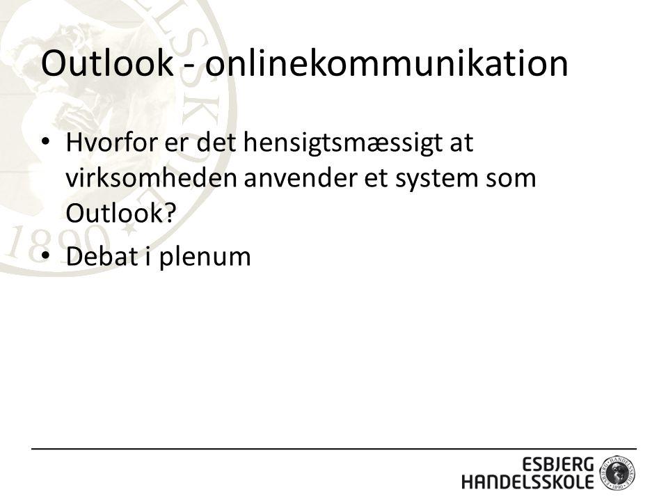 Outlook - onlinekommunikation