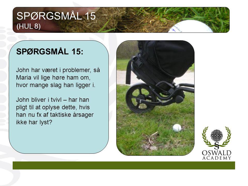 SPØRGSMÅL 15 SPØRGSMÅL 15: (HUL 8)