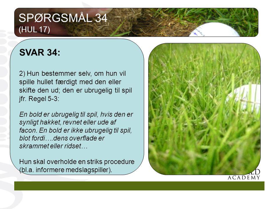 SPØRGSMÅL 34 (HUL 17) SVAR 34: