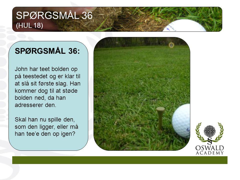 SPØRGSMÅL 36 SPØRGSMÅL 36: (HUL 18)