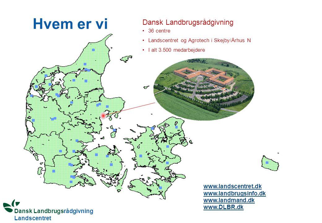 Hvem er vi Dansk Landbrugsrådgivning www.landscentret.dk