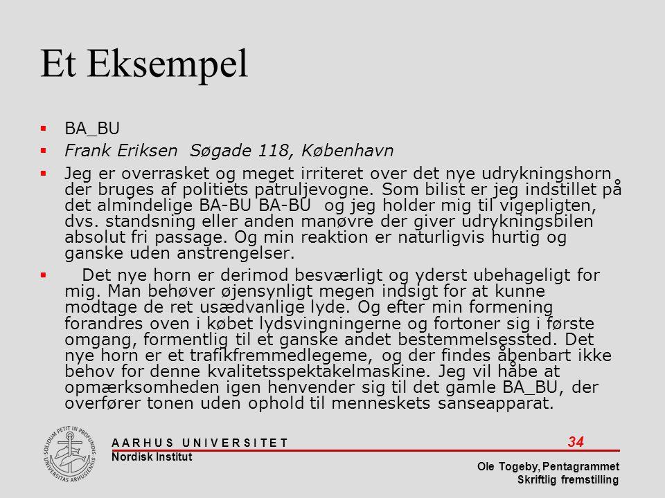 Et Eksempel BA_BU Frank Eriksen Søgade 118, København