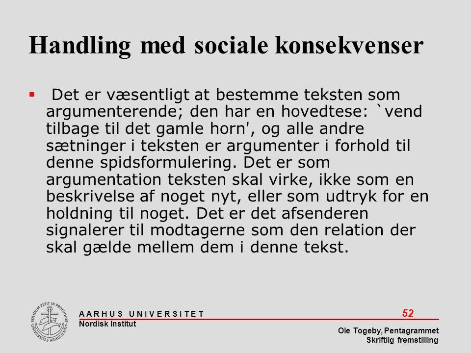 Handling med sociale konsekvenser