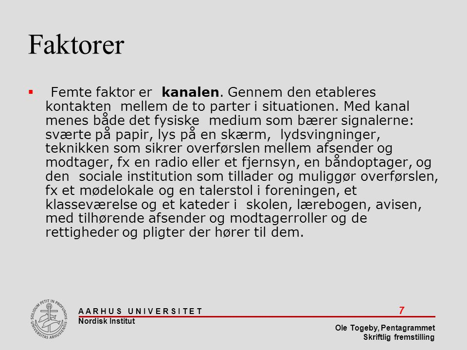 Faktorer