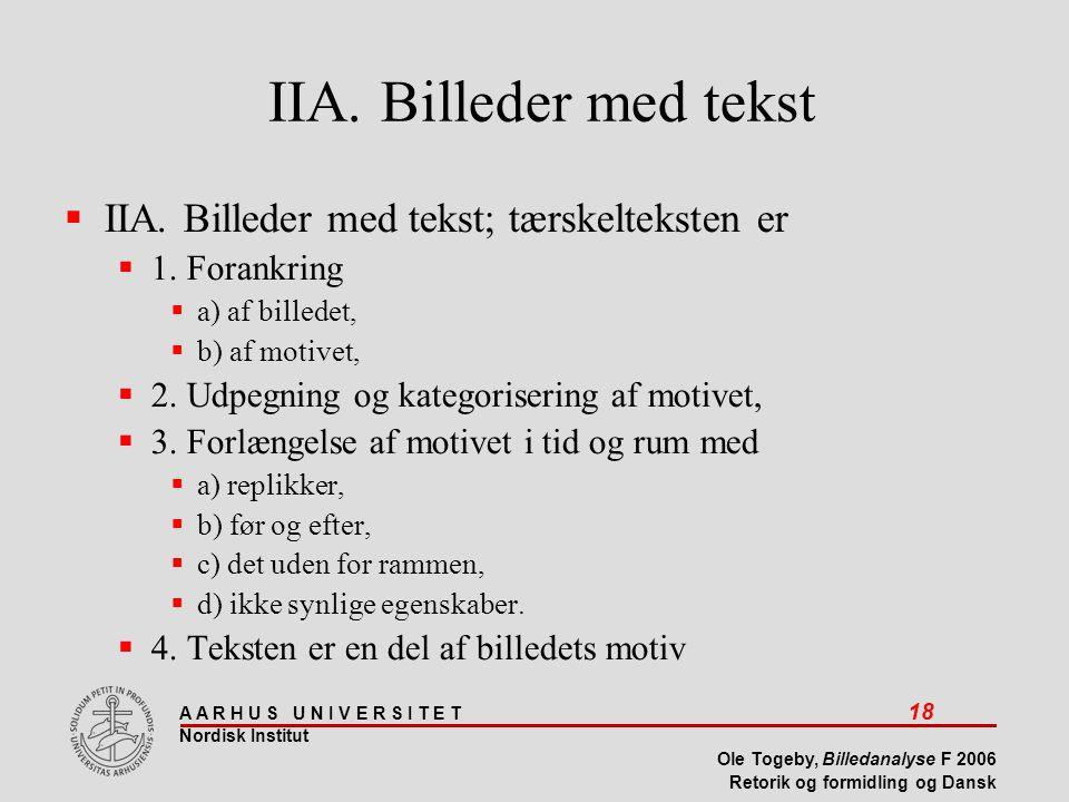 IIA. Billeder med tekst IIA. Billeder med tekst; tærskelteksten er