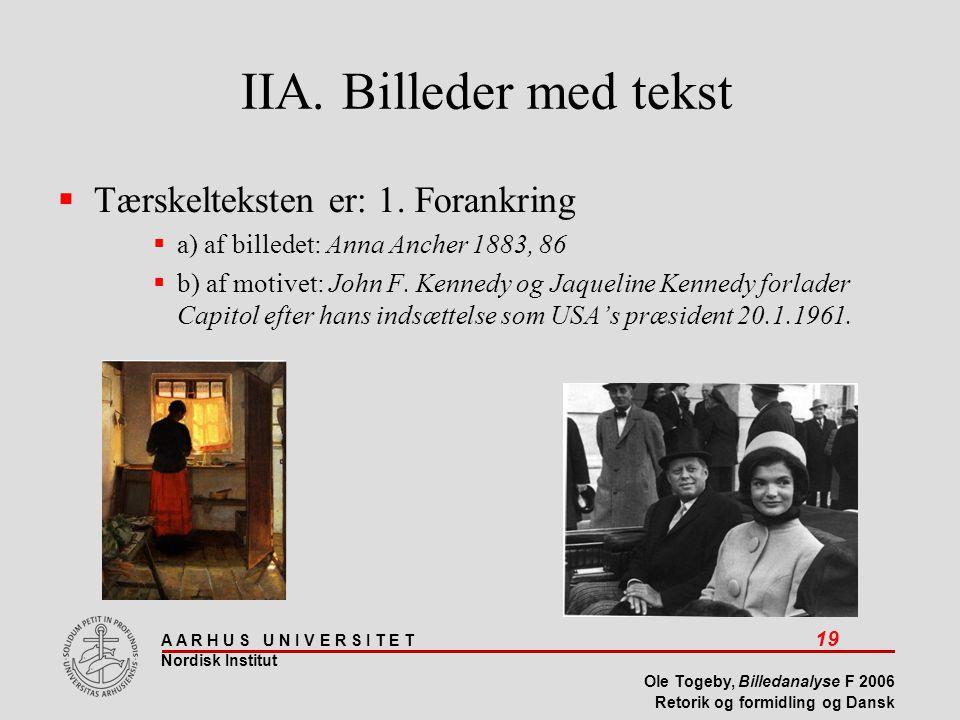 IIA. Billeder med tekst Tærskelteksten er: 1. Forankring