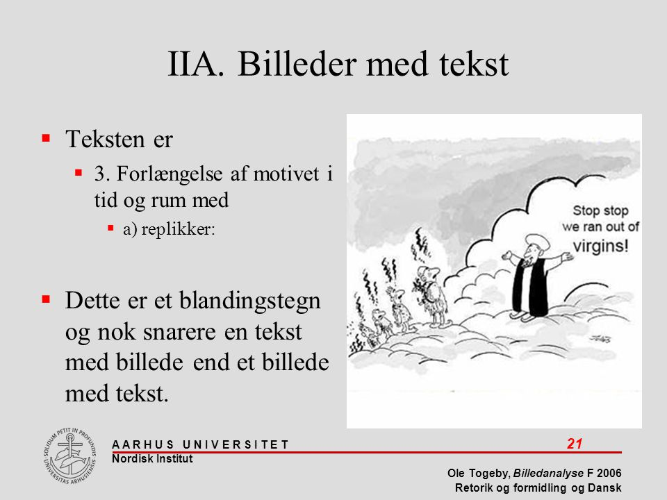 IIA. Billeder med tekst Teksten er