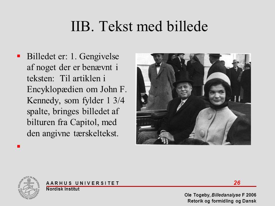 IIB. Tekst med billede