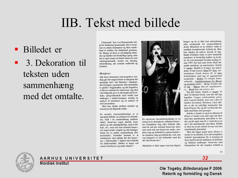 IIB. Tekst med billede Billedet er