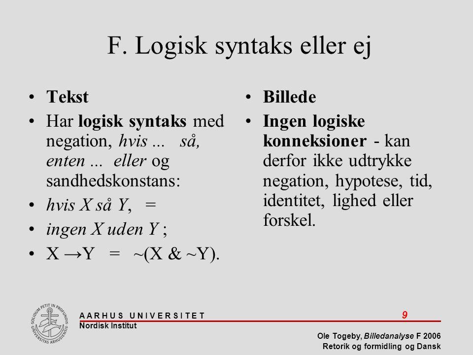 F. Logisk syntaks eller ej