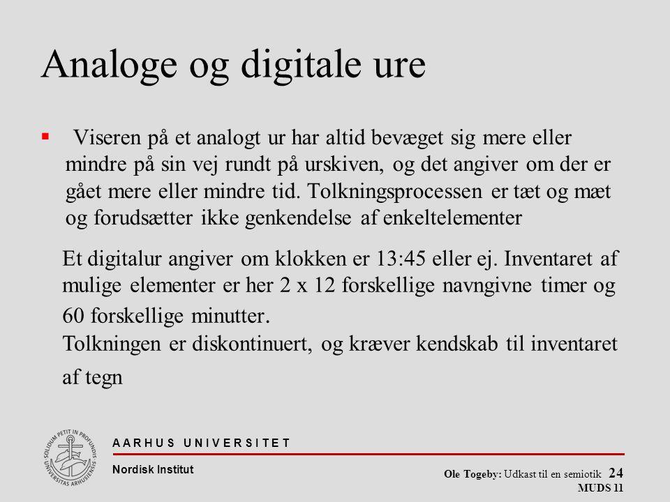 Analoge og digitale ure