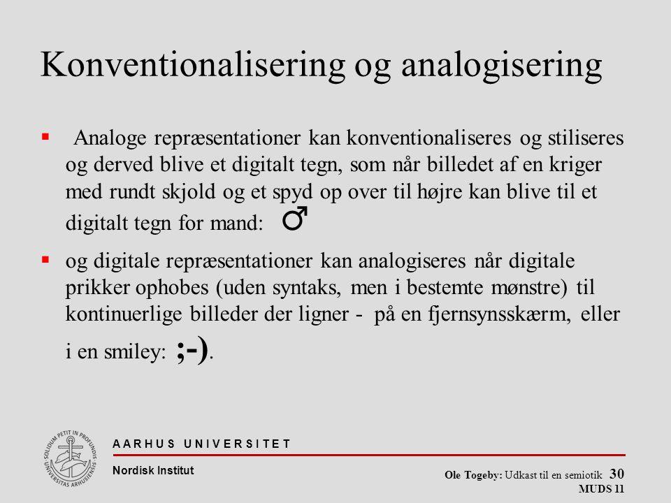 Konventionalisering og analogisering