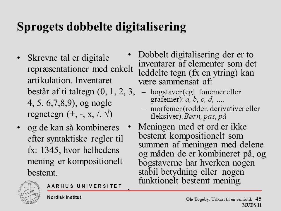 Sprogets dobbelte digitalisering