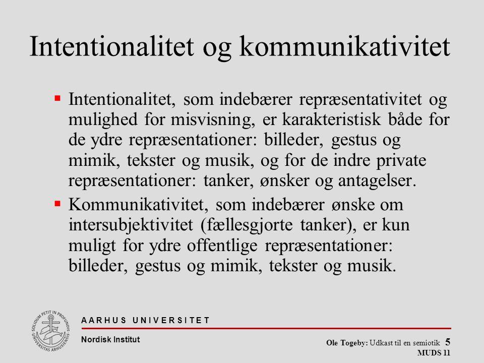 Intentionalitet og kommunikativitet