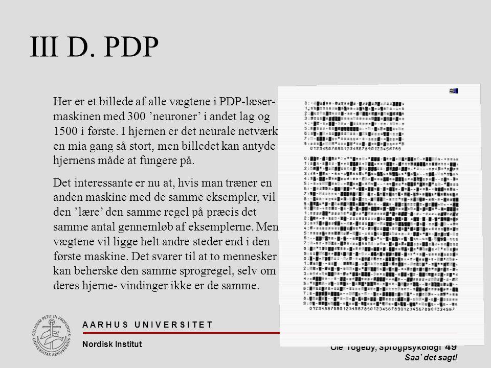 III D. PDP