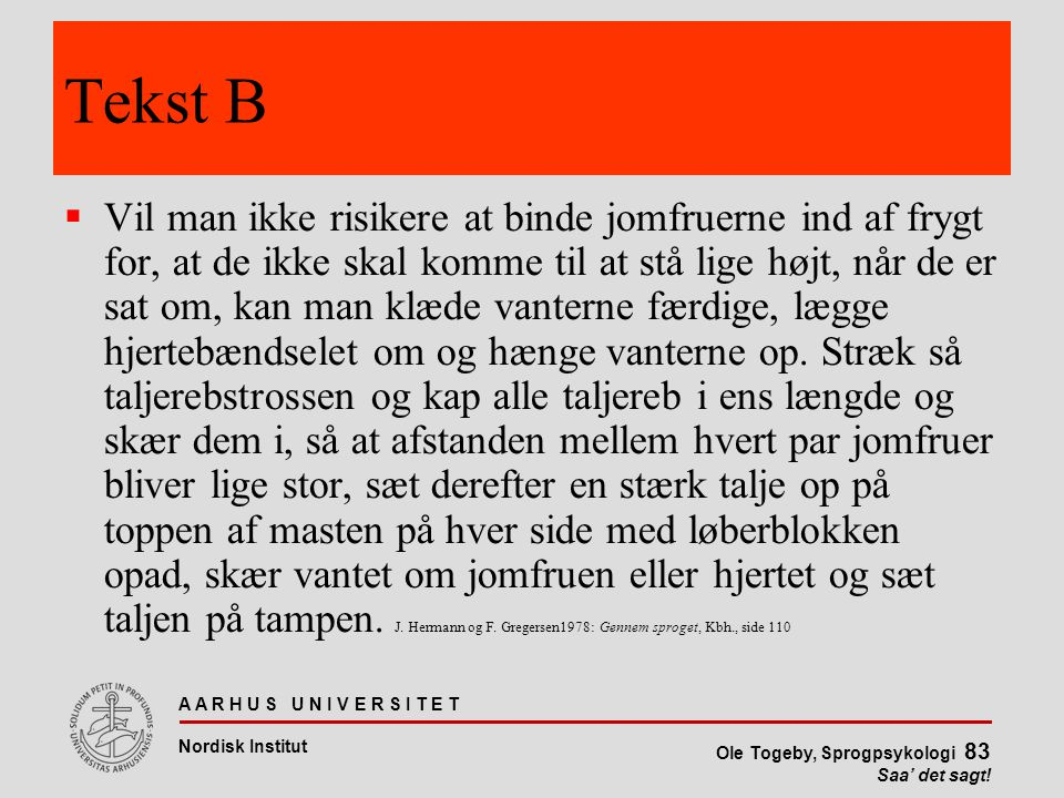 Tekst B