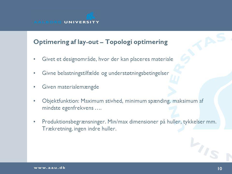 Optimering af lay-out – Topologi optimering