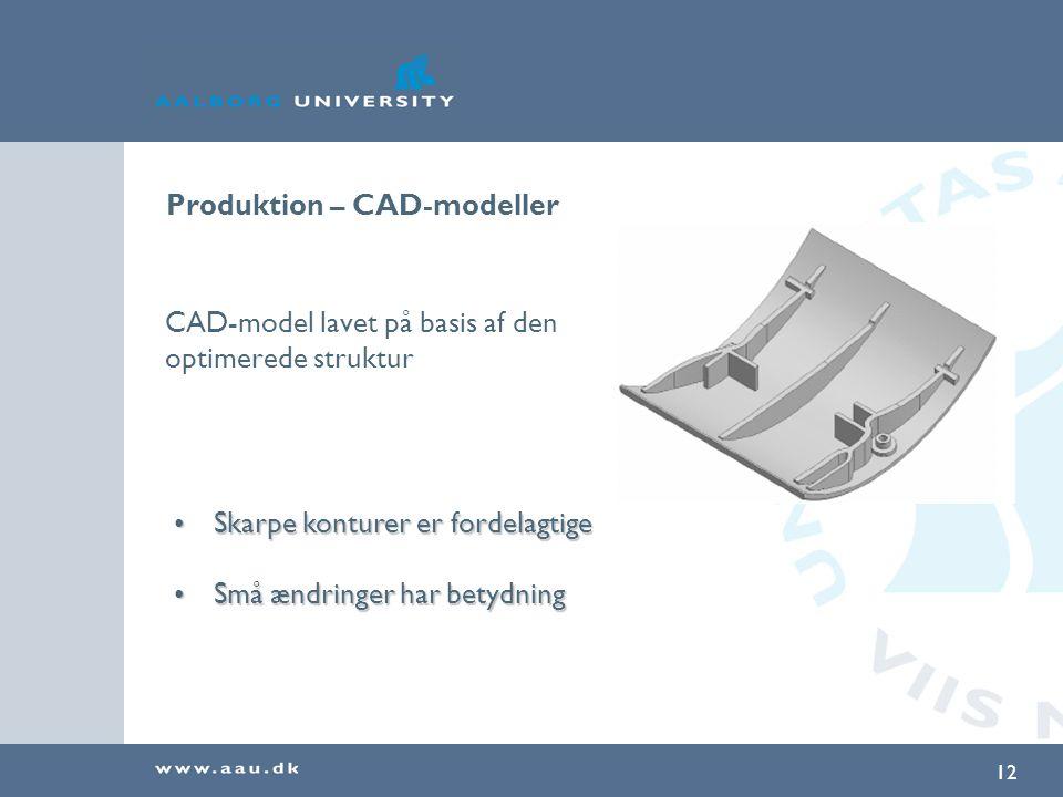 Produktion – CAD-modeller